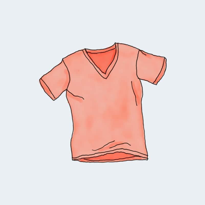Camiseta de cuello en V