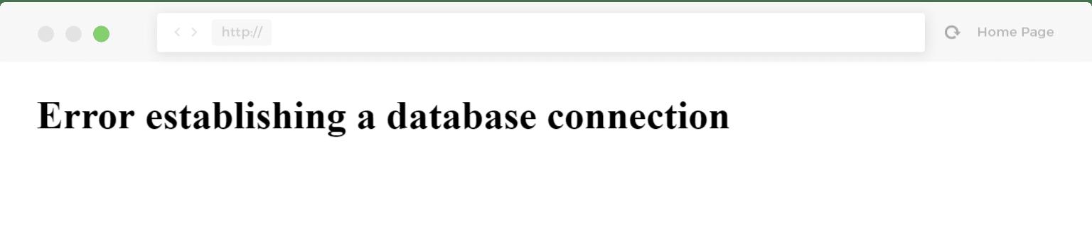 error son Conexion a base de datos