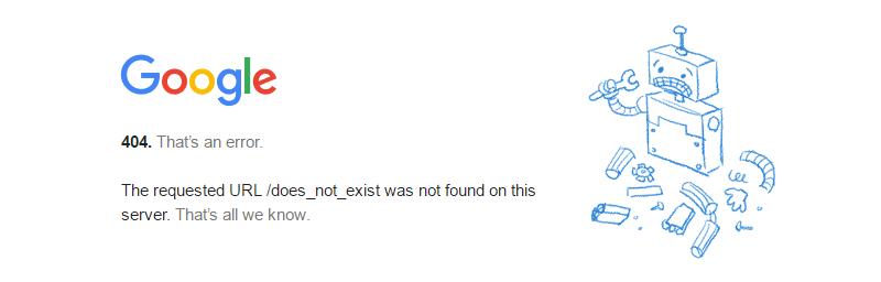 Error robot 4040 google